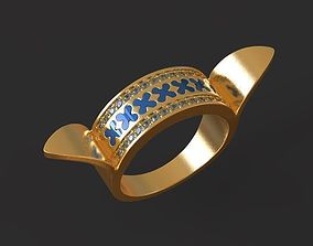 Peace of min golden ring 3D printable model