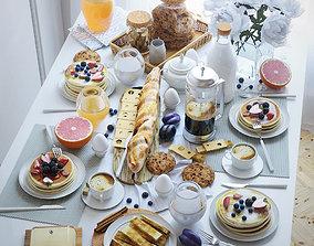Serving table breakfast - 2 3D