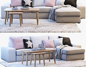 Ikea KIVIK 3 Two-seat sofa with chaise longue 3D model