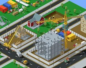 Voxel Construction Pack 85 Items 3D model