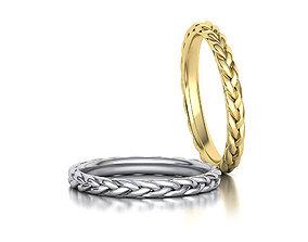 Braided Stackble Ring printable 3dmodel