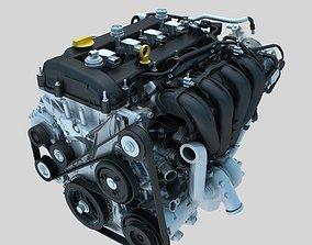 Engine animation 3D model animated engine