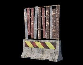 Concrete Barrier 3D asset game-ready