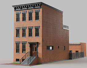 3D model Brownstone townhouse
