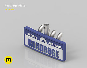 Roadr8ge Plate 3D print model