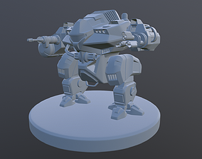 3D printable model Mech LowPoly