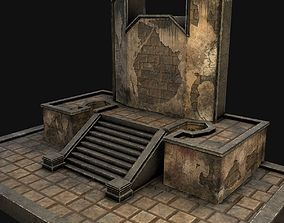 A pedestal with steps 3D model