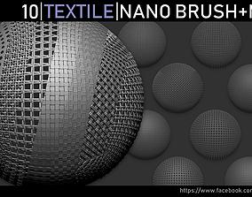 3D model Zbrush - Textile Nano Brush and Meshes