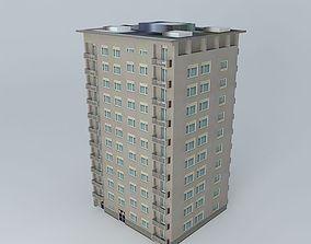 3D model Socialistic Residential Skyscraper