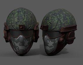 Helmet scifi military combat 3d futuristic realtime 1