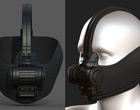 low-poly Gas mask respirator scifi futuristic