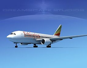 3D Boeing 767-200ER Ethiopian