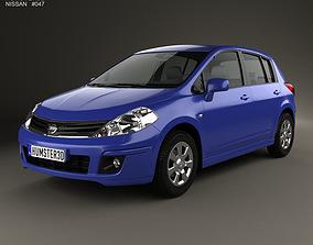 3D Nissan Tiida C11 hatchback 2012