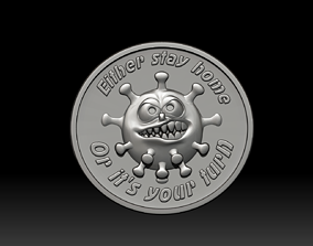 3D printable model covid 19 - coronavirus pendant