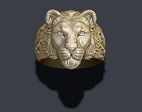 3D print model Lioness ring
