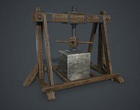 Press 3D model low-poly