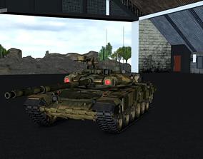 T-90 Russian main battle tank 3D model
