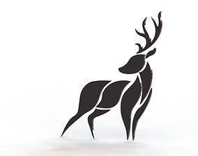 3D printable model Artistic Modern Deer Wall decor