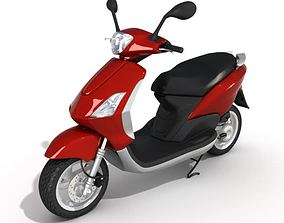 3D model Red Motorcycle