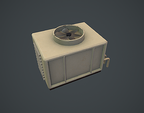 3D asset Air Conditioner Unit PBR VR