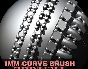 3D print model Jewelry Gem Melee IMM Curve Brush