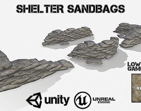 Shelter Sandbags 3D asset