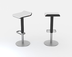 3D model Black and white bar stool ED by Moree