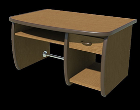 3D model wood furniture table