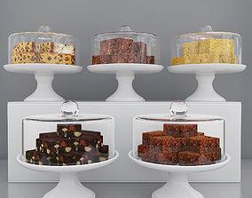 3D Cake pieces