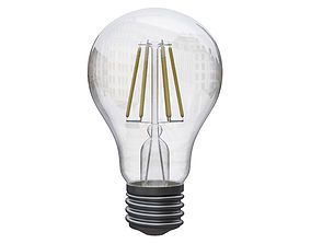 filament light bulb 3D model