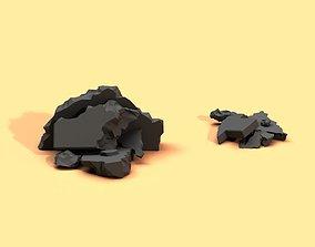 Low Poly Debris Piles 3D model