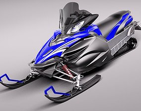 Yamaha Apex Snowmobile 2011 3D Model
