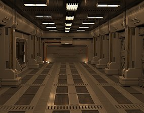 hangar tunnel 3D sci fi corridor