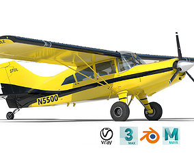 cirrus 3D Light Airplane Maule Yellow Black