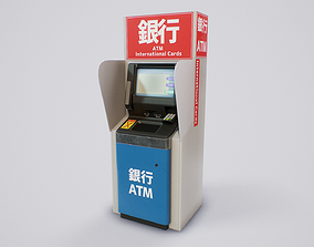 Japanese ATM 3D asset