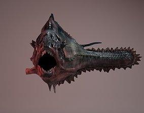 3D model piranha monster