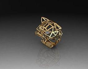3D print model Tiger Ring jewellery