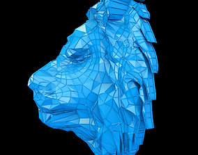 3D model Abstract Poly-style Lion head
