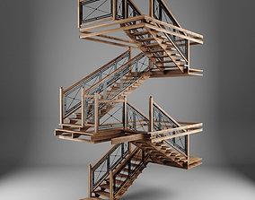 3D asset Ladder chalet