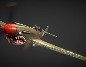 3D model Curtiss P-40 Warhawk