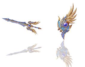 Sacred - Sword and Shield 3D model