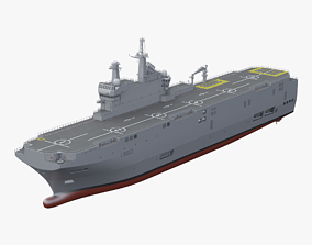 Mistral Class Assault Ship 3D
