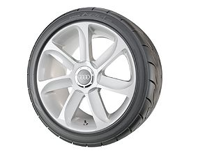 Performance Car Wheel tire 3D