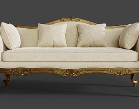 3D Baroque Classic Sofa