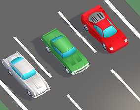 Low Poly Sports Car Pack 3D model