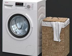Washing machine and Laundry basket 3D model