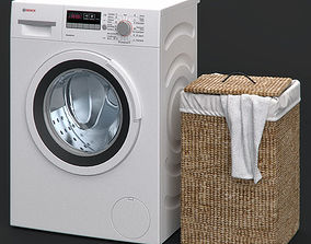 Washing machine and Laundry basket 3D model