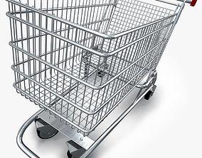 3D model Realistic Shopping cart