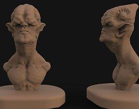 Alien bust sculpt 1 3D printable model