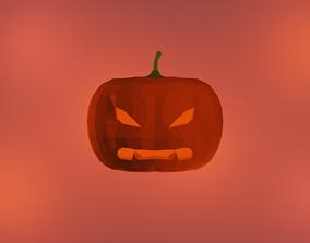 3D asset realtime Halloween Pumpkin
